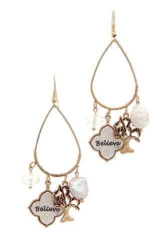 Believe tree charm drop earring-id.cc39887