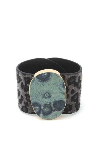Animal print pattern wrap bracelet-id.cc39893