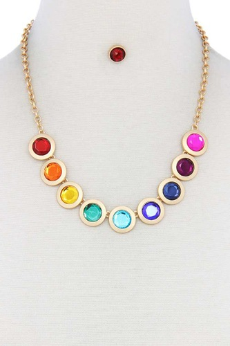 Circle metal necklace-id.cc39898