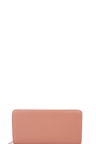 Fashion solid color double side long wallet with hand strap-id.cc39903