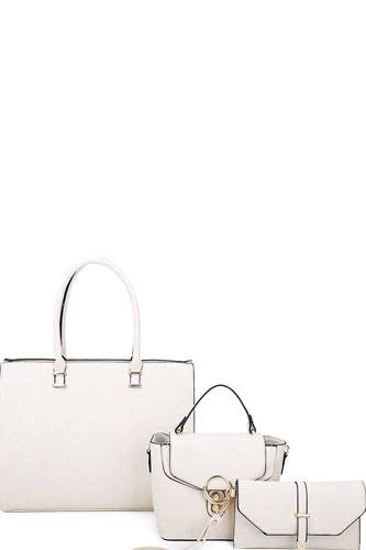 3in1 fashion tote crossbody and clutch set-id.cc39904