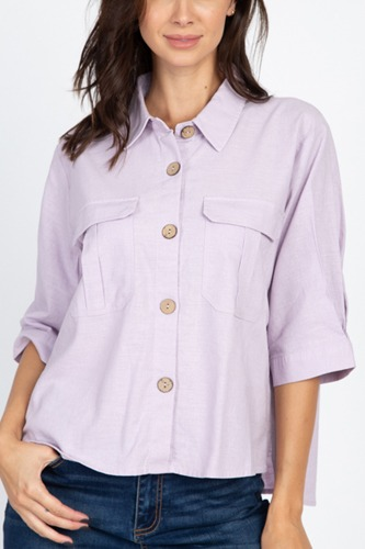 High low button front shirt-id.cc39922