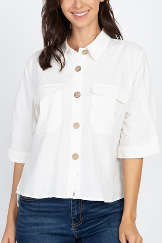 High low button front shirt-id.cc39922a