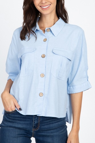 High low button front shirt-id.cc39922b