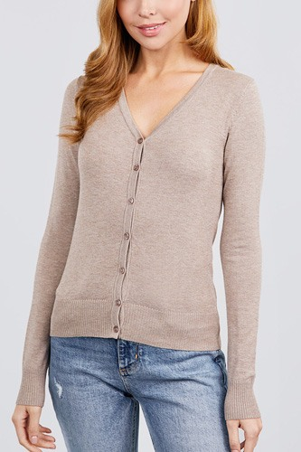 Long sleeve v-neck button down sweater cardigan-id.cc39926f