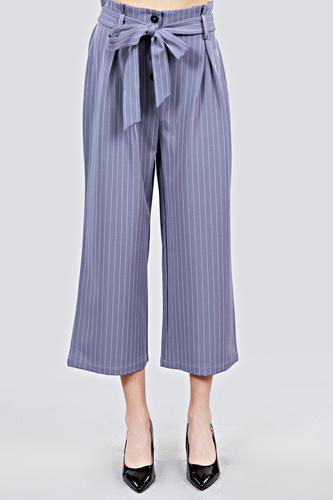 Button down paperbag cullote stripe pants-id.cc39927a