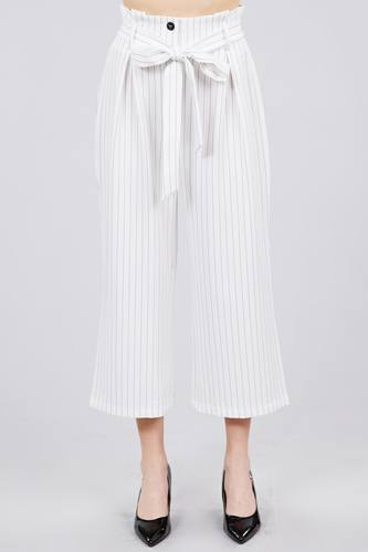 Button down paperbag cullote stripe pants-id.cc39927c
