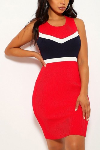 Color block, sleeveless, two-tone, stripe dress-id.cc39931a