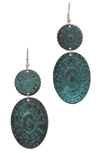 Metal drop earring-id.cc39944