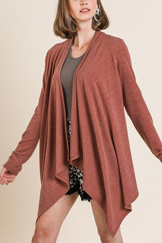 Soft knit long sleeve open front cardigan-id.cc39973b