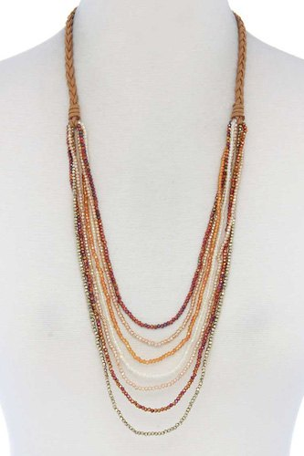 Beaded multi layer necklace-id.cc39981