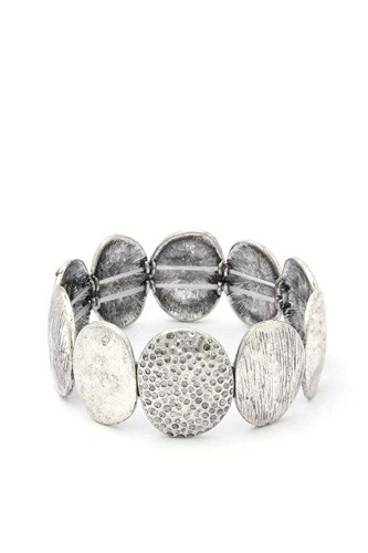 Oval metal stretch bracelet-id.cc39991