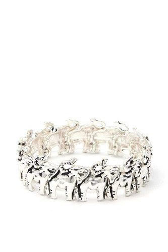 Elephant metal stretch bracelet-id.cc39992