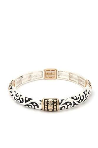 Filigree metal stretch bracelet-id.cc39994