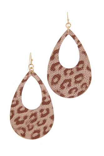 Animal print teardrop shape earring-id.cc39998