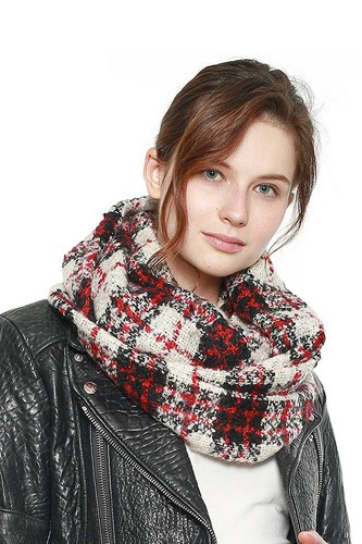 Soft plaid infinity scarf-id.cc40010