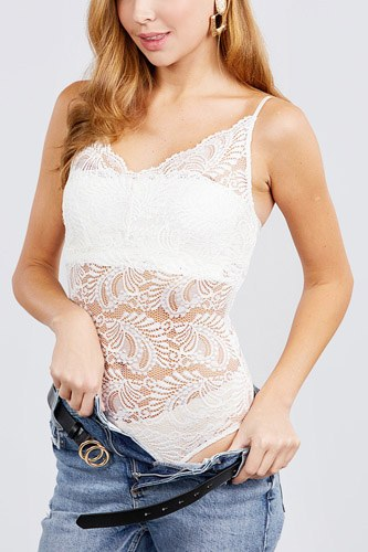 Long dolman sleeve round neck draped waistline stretch lace back open bodysuit-id.cc40028b