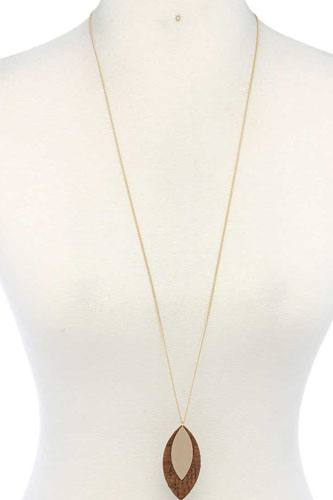Double pointed oval shape pendant necklace-id.cc40031