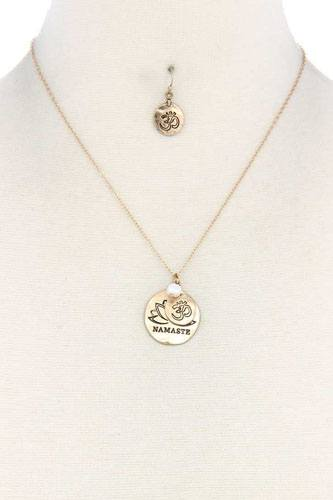Namaste engraved pendant necklace-id.cc40032