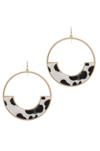 Circle drop earring-id.cc40036