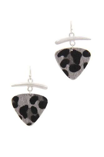 Animal print drop earring-id.cc40037