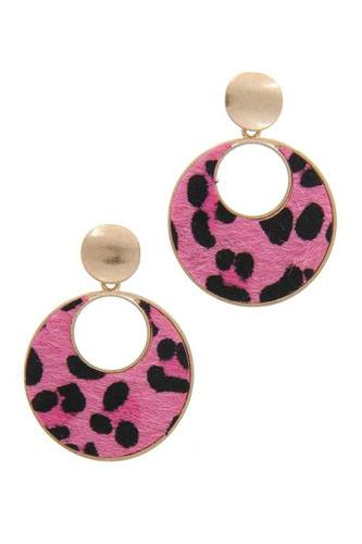 Animal print post drop earring-id.cc40040