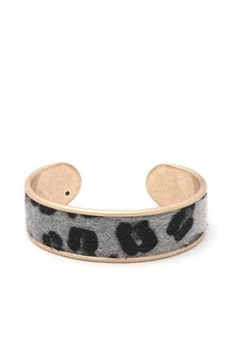 Animal print metal cuff bracelet-id.cc40041