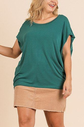 Short dolman sleeve scoop neck top-id.cc40067a