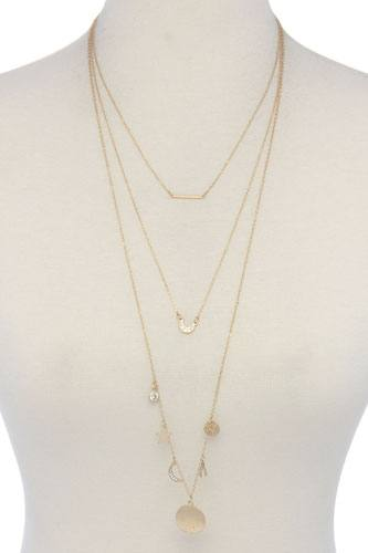 Layer charm necklace-id.cc40078