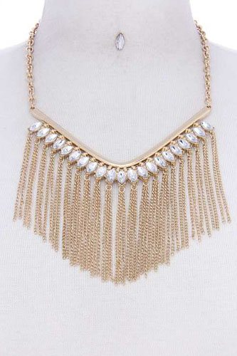 Fashion multi rhinestone chic necklace-id.cc40079