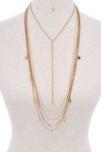 Metal multi chain necklace-id.cc40080