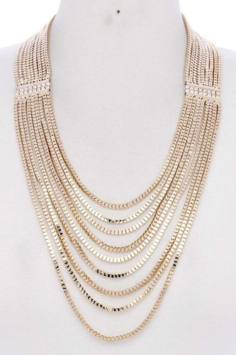 Layer metal necklace-id.cc40094