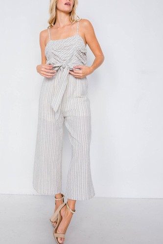 Spaghetti strap striped jumpsuit-id.cc40114