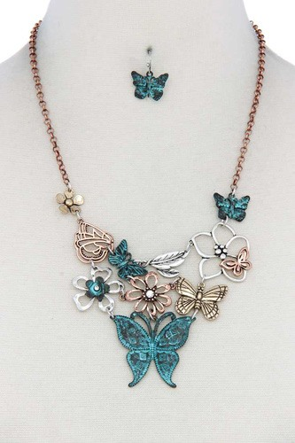 Metal butterfly necklace-id.cc40130