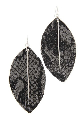 Snake pattern metal bar drop earring-id.cc40131