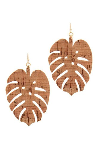 Tropical leaf drop earring-id.cc40135