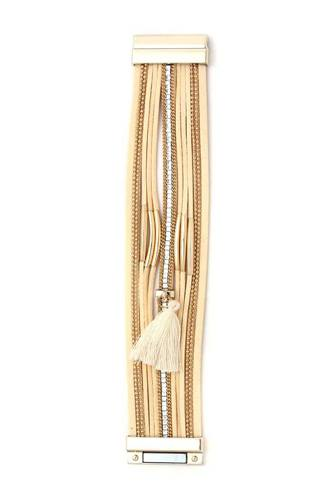 Tassel multi layered magnetic bracelet-id.cc40137