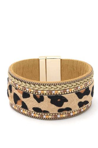 Animal print magnetic bracelet-id.cc40140