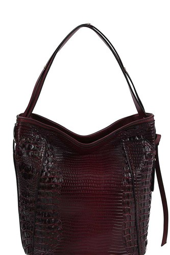 Chillx fashion croco pattern convertible bucket hobo bag-id.cc40149