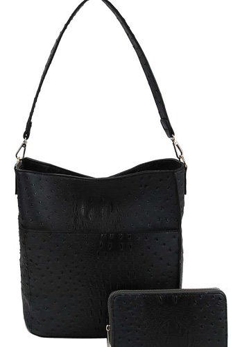 2in1 modern croco pattern hobo bag with matching wallet-id.cc40150