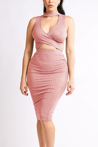 Halter top & skirt set-id.cc40156a