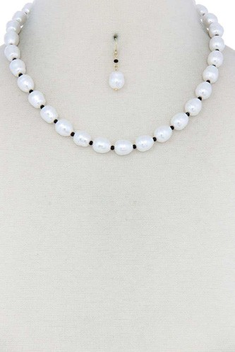 Pearl bead necklace-id.cc40172