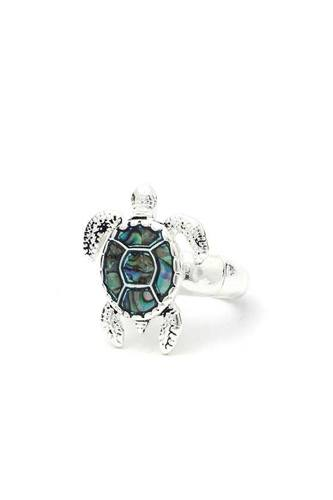 Abalone sea turtle stretch ring-id.cc40186