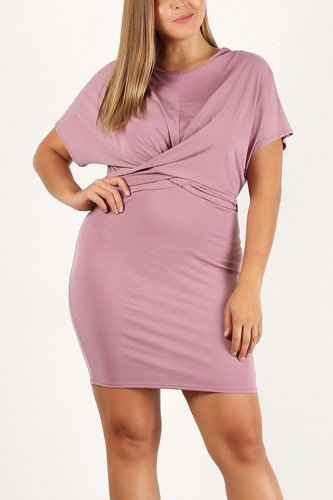 Plus size solid, bodycon dress-id.cc40210a