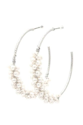 Beaded open circle earring-id.cc40221