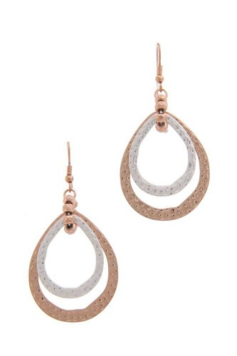 Double teardrop shape earring-id.cc40225