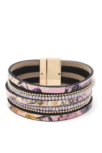 Beaded multi strand magnetic bracelet-id.cc40229