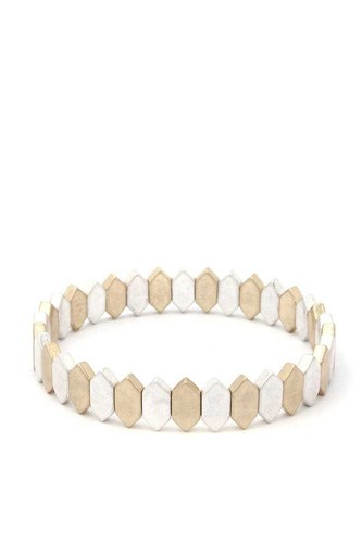 Pointed oval stretch bracelet-id.cc40230