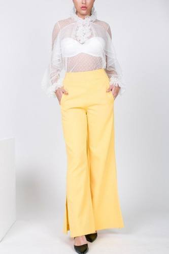 Side slit detail wide leg pants-id.cc40268