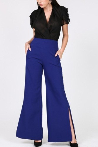 Side slit detail wide leg pants-id.cc40268a